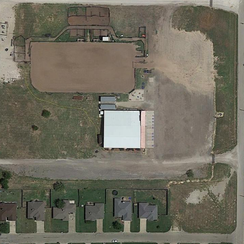 Google Earth Imagery of a Typical DFW Cowboy Church